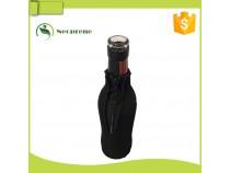BC018- Black zipper bottle cooler