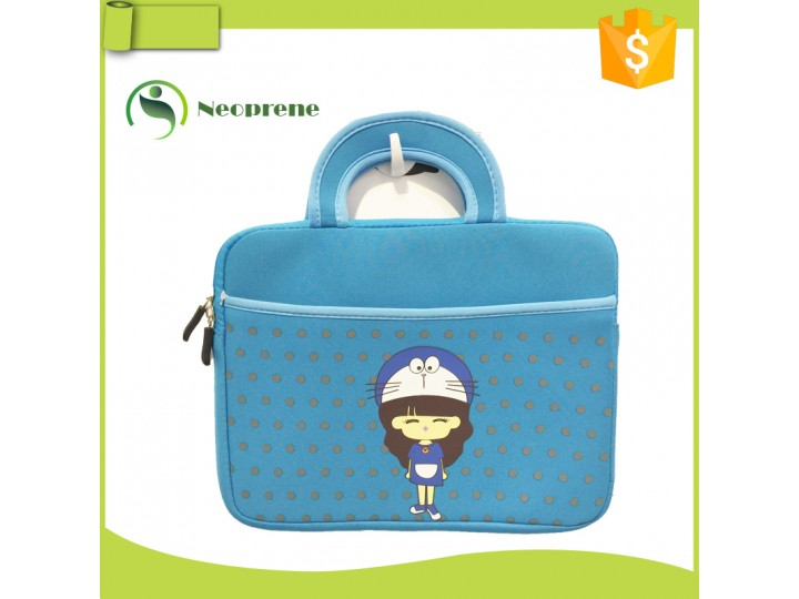 LS007- Blue laptop sleeve with handle