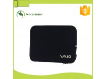 LS013-Black silkscreen printing laptop sleeve