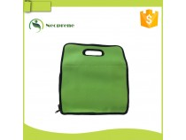 LB015- rectangle green lunch bag